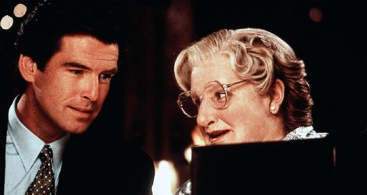 بيرس بروسنان Pierce Brosnan وروبن ويليامز Robin Williams مسز دوبتفاير Mrs. Doubtfire
