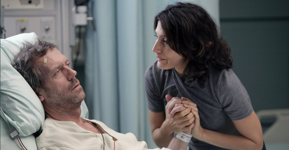 House and Cuddy in hospital