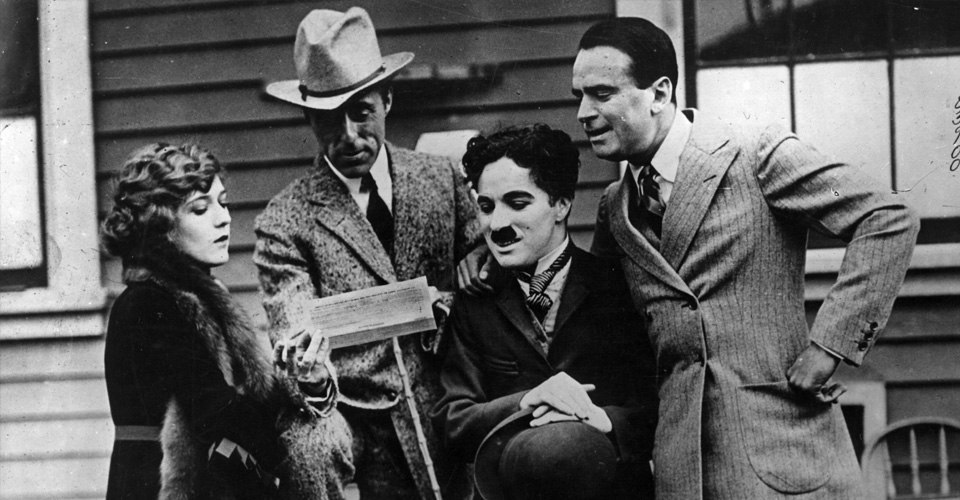 Charlie Chaplin D W Griffith Mary Pickford Douglas Fairbanks