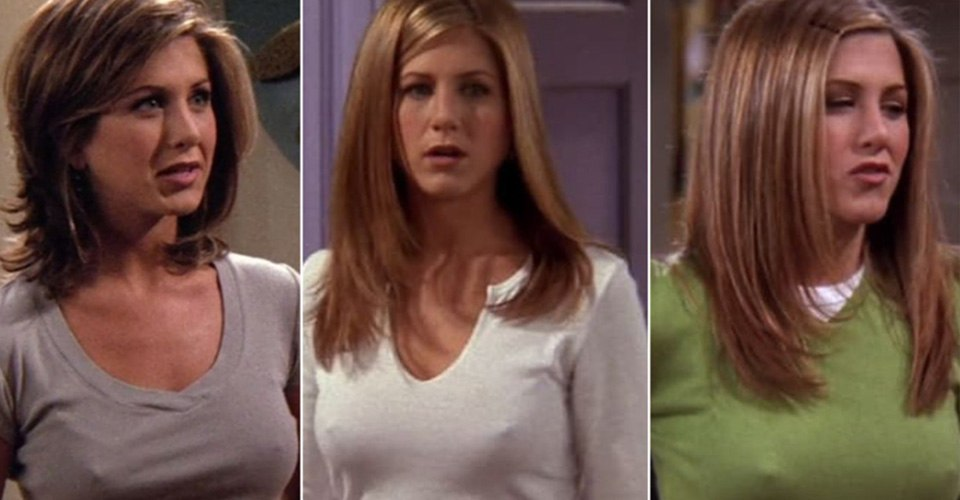 Jennifer Aniston nipples breasts rachel