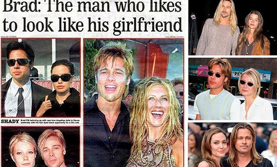 Brad Pitt the man who likes to look like his girlfriends