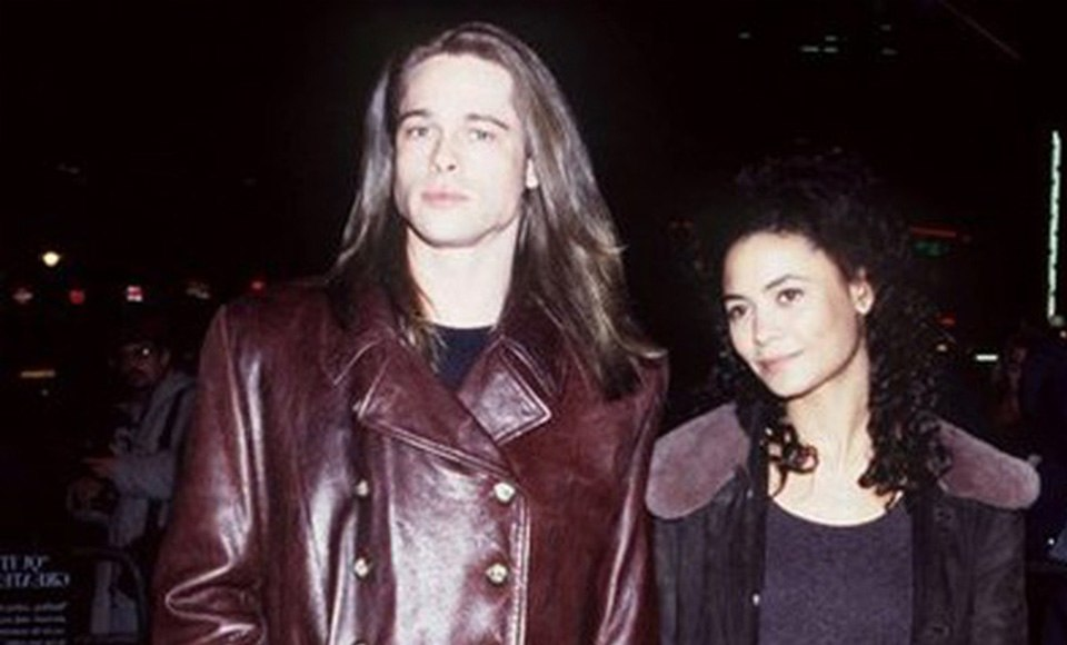 Thandie Newton and Brad Pitt