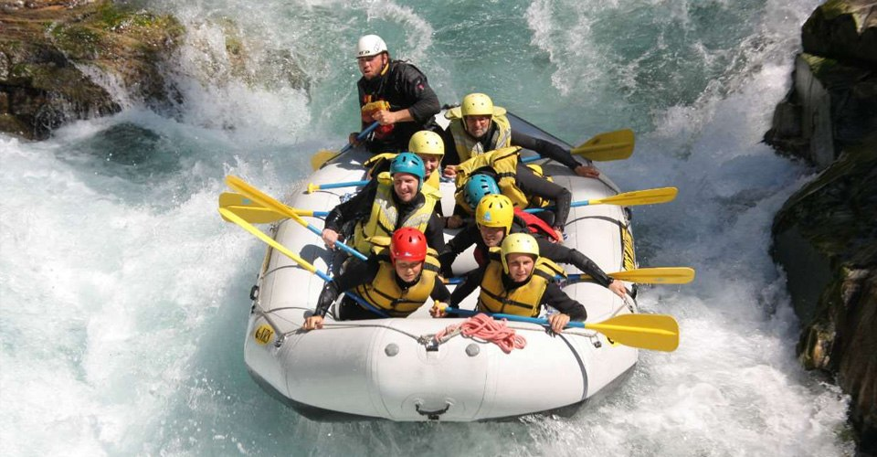 white water rafting in the Norwegian Fjords