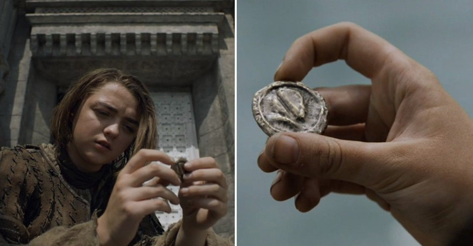 Arya Stark Faceless Men Iron Coin