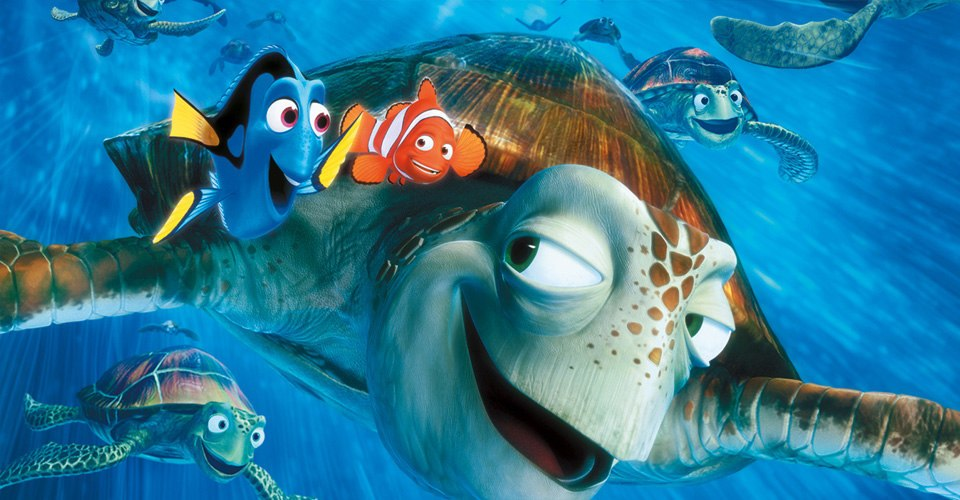 marlin and dory and crash finding nemo