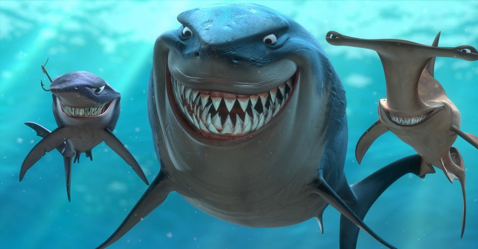 sharks in finding nemo