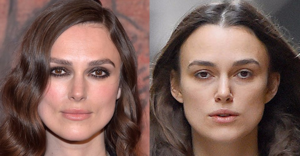 Kiera Knightly without makeup