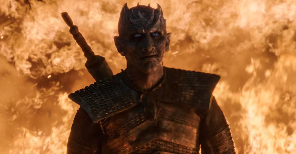 the night king dragon fire smiling